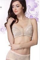 Wholesale LIZ inside silicone fake breast front closure cotton bra for woman mastectomy fake boobs bra