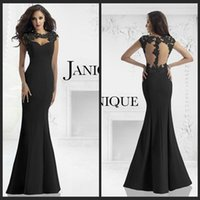 Wholesale Elegant Lace Mermaid Dresses High Quality Chiffon Sheer Back Long Trumpet Party Gowns Zipper With Appliques Special Women s Fomal Gowns
