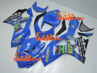 Wholesale 3 Free Gifts New ABS Motorcycle Fairing Kits For Suzuki GSXR1000 GSX R1000 K7 ABS Bodywork Cowling cool blue