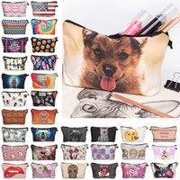 animals design case - 122 Designs Makeup Bag Fullprint Cute Handbags Cosmetic Bags toiletry bag makeup organizer Casual Travel Bag Makeup Bags Cases