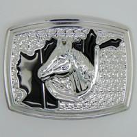Wholesale 2016 DISOM New belt buckle horse belt buckles American fashion silver belt buckle zinc alloy rings suit for cm width belt