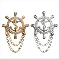 alloy magazine - Our version of the magazine Navy high end chain rudder anchor man BROOCH BADGE trendsetter retro suit
