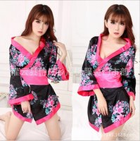 Wholesale lingerie Japanese temptations sexy sweet kimono role play COSPLAY