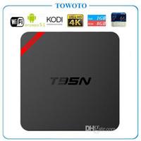 Wholesale Amlogic S905 T95N Mini MX Android TV BOX Kodi Android K also have MXQ S805 S905 M8S T95 TV BOX T95N Mini M8S pro from towoto