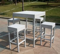 Wholesale Rattan bar chairs tables Set rattan outdoor furniture wicker chair stool