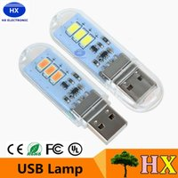 bank switch - Mini USB led lamp LED night light mobile power USB light with touch switch enclosure w V for Power Bank Computer Laptop