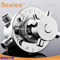 Wholesale DN15 G1 Brass Thermostatic mixing valve solar water heater electric water heater mixing valve high quality