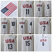Wholesale USA Basketball Jerseys Cheap Basketball Jerseys USA Olympic Basketball Shirts USA Olympic Basketball Wears Uniform