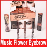 auto eyebrow pencil - MUSIC FLOWER Color Auto Eyebrow Pencil and Gel Double Side Multifunction Longlasting Waterproof Eyebrow Pencil