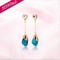 Wholesale 2016 New product Korean style jewelry Fine Crystal long tassel earrings Female models earrings in stock