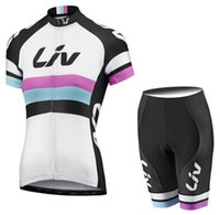 Wholesale giant Women liv cycling jersey Sets Short sleeve Race Day ropa ciclismo Bike clothingTracksuits mtb bicycle Jerseys Bib Shorts XXS White