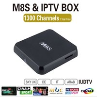 Wholesale Original Kodi Fully Loaded year IUDTV Included M8S Android4 Smart TV Box Amlogic S812 Quad Core Europe Italy IPTV Box K Wifi