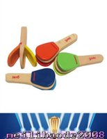 Wholesale new Baby Toy wooden handle castanet child musical instrument orff knock instrument toy MYY