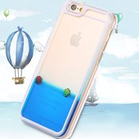 Cheap 3D Liquid Ocean Water Swimming Fish Cover Back Case Movable Sea World Liquid Fish Case For iPhone 6 4.7