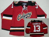 Wholesale 2016 Mix Order Calgary Flames Men s Johnny Gaudreau Jerseys ICE Hockey Jersey Embroidery Cheap Red White Throwback CCM Jerseys