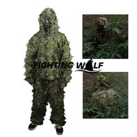 Wholesale D Leaf Camouflage Tactical Military Airsoft Paintball Hunting Camo Bionic Disguise Sniper Archery Ghillie Suit Disguise Uniform