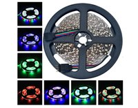 Wholesale 16 FT M Flexible RGB LED Light Strips Units SMD LEDs Non Waterproof lm RGB LED Flexible Strip Lamp DC12V