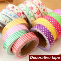 decorative tape - Single Side Cotton Colored Adhesive Tape Sticky Masking Decorative Tape Scrapbooking Stationery School Supplies