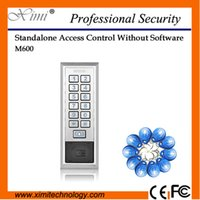 Wholesale Metal face IP68 waterproof card V DC door access control mhz MF mi fare card without software single access controller