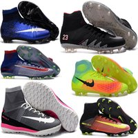 Soft Spike aa cream - Original Kids Youth Soccer Boots Newest Mercurial Superfly FG CR7 V Soccer Cleats Magista Obra Football Boots Hypervenom cheap Soccer Shoes
