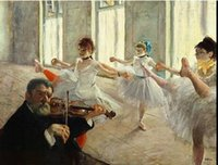 ballet dance class - Ballet dance classes By Edgar Degas Pure Handicrafts Famous Fine Art oil painting On High Quality Canvas any customized size Available