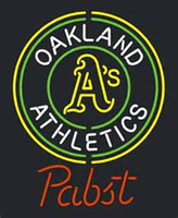 athletic handmade - Hot MLB Pabst Oakland Athletics Baseball Neon Sign Real Glass Custom Handmade Beer Bar Store Pub Club Advertising Display Neon Signs quot x25 quot