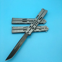 Wholesale 3styles Microtech Tachyon II Stonewash blade Butterfly Stainless steel Balisong survival hunting knife knives BM42 BM43 BM47 BM40