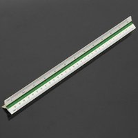Wholesale New Essential Measuring Tool Supplies mm Triangular Metric Scale Ruler For Engineer Multicolor