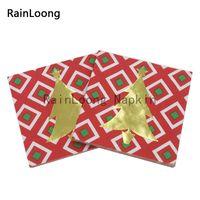 Wholesale RainLoong Plys Beverage Paper Napkin Gold Foil Christmas Festive Party Supply Tissue Napkin Serviettes Decoupage cm