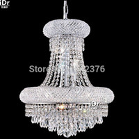 basket chandelier - Modern Europe Lights dome basket crystal chandeliers in chrome finish Bedroom lamp Hall Upscale atmosphere