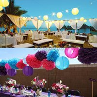 Wholesale quot cm Round Paper Lanterns Wedding Birthday Party Decorations Supply Lamp all size quot quot quot
