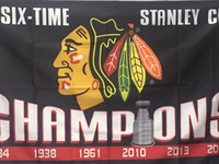 Wholesale Blackhawks Teams Flags Cheap Champion Flags Sports Teams Polyester Flag Two Sides Printed Flag All Teams Hockey Flags are Available
