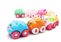 Wholesale 8pcs set Colors Children Kid Cute Animal cartoon Car Toy Plastic Magnetic Racing Cars Education Toys