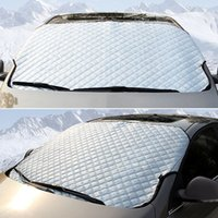 Wholesale Snow Shield Half car cover Cover for Auto Documents Car styling Sun Shade Hook Up Waterproof Durable Car covers case
