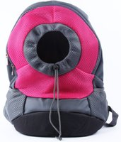 dog carriers - REAMIC Pet Travel Backpack samll dog and cat outdoor both shoulder bag easy to use red rose and blue