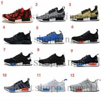b and w - Originals NMD R1 W quot Blue Glow quot Shoes Mens Women s Athletic Running sneaker Shoes Running Shoe Brand Boost eur36