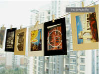 Wholesale DIY x6 Inch Hanging Paper Photo Frames Wall Picture Frames For Home Decoration Black White Craft Colors