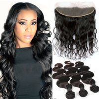 Wholesale 13x4 Body Wave Ear to Ear Lace Frontal Closure With Bundles Peruvian Body Wave With Lace Frontal Bundles With Lace Frontal