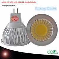 Wholesale 1PCS COB chip LED bulb MR16 W W W V Dimmable Led Spotlights Warm Cool White MR base LED lamp