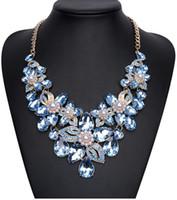 Wholesale Elegant necklaces handmade statement necklaces alloy rhinestone choker necklaces for women choker collar necklaces for women