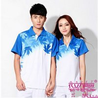 Wholesale Table Tennis T Shirt New Summer Short Sleeves Table Tennis Clothes Fitness Sport Jerseys Man Women Lovers Shirt China
