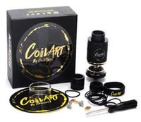 art cloning - Coil Art Azeroth RDTA Atomizer Clone MM Diameter ML Big Juice Capacity Coilart Adjustable Airflow E Cigarette DHL Free