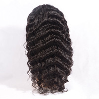 Wholesale Malaysian human hair Lace Wigs B Deep Wave Cheapest Human Hair full lace wigs Discount Hand tied wigs