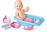 baby bathing accessories - 15 Inches Reborn Dolls Shower Toys Boy Girl Bathing Dolls with Accessories Baby Gifts Accompany Toys with Bathtub