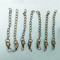 Cierres de garra de langosta de 14mm Cadenas ampliadas de extensión saltar anillos cuerdas de cuero Extender cola encantos collar joyería Hacer conponent connector