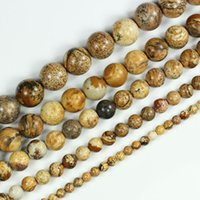 Wholesale Natural Picture Jasper Stone Round Gemstone Loose Beads quot mm Pick