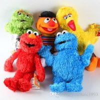 Wholesale NEW Styles H33cm short plush Sesame Street Elmo Cookie Grover Zoe Ernie Big Bird Stuffed Plush Toy Dolls Children Gift