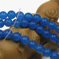 aquamarine sale - 6mm mm mm Hot Sale Accessories Blue Aquamarine Jade Loose Round Beads DIY Jasper Jewelry Making inch Girls Christmas Gifts