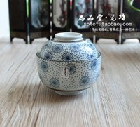 Wholesale Wind antique enamel egg stew soup cup covered tea cup ceramic Chawanmushi Road Cup