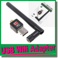 Wholesale USB Wifi Adapter Antenna for Desktop Wireless Network Adapters LAN Network Card Computer Software Driver for XP Vista WIN7 LINUX MAC OM CH9